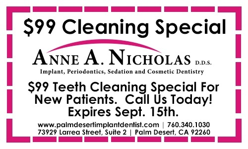 Cleaning Special Dr. Anne Nicholas Palm Desert, CA