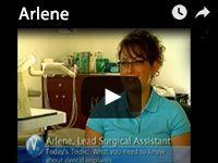 Arlene, Lead Surgical Assistant video about dental implants