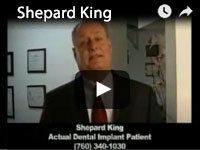 Shepard King Actual Dental Implant Patient video