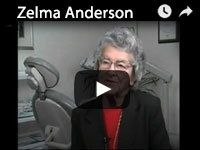 Zelma Anderson Dental Implant Patient video
